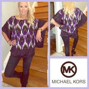 Michael Kors Patterned Silky Tunic SM/MED